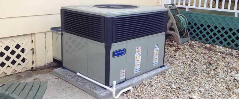American Standard packaged heating and cooling units save space and energy!